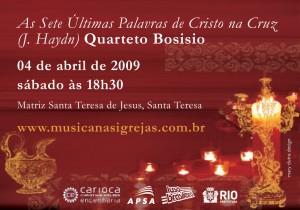 Quarteto Bosisio em Santa Teresa