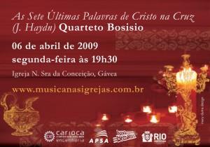 Quarteto Bosisio na Gávea