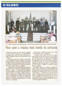 O Globo - junho de 2008